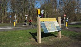 Informatiepaneel entree Hollandse Biesbosch