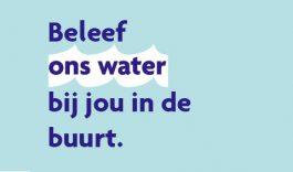 Week van Ons Water 17 t/m 24 oktober 2018